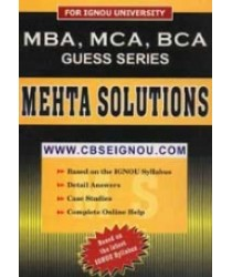 IGNOU MBA BOOKS with solved papers and guess